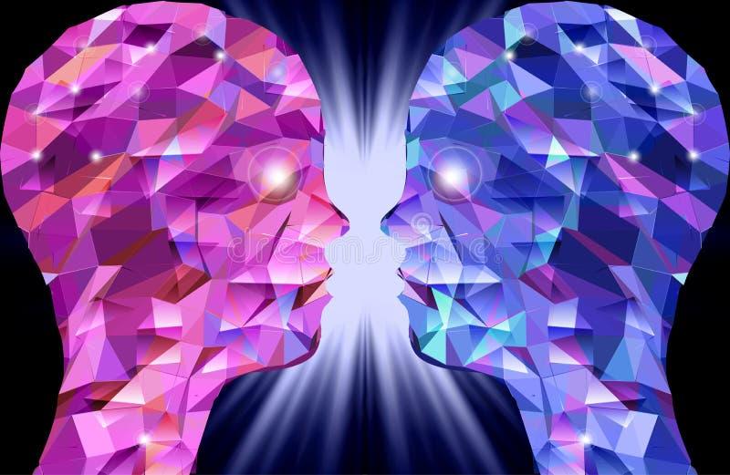 Download Cabeças Humanas. Ilustração Abstrata Dos Triângulos Ilustração do Vetor - Ilustração de coletivo, linha: 29841133