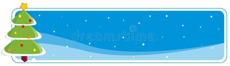 Cabecera/bandera de la Navidad ilustración del vector