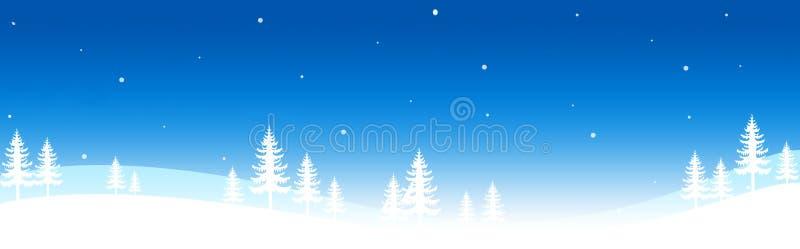 Cabecera/bandera del invierno ilustración del vector