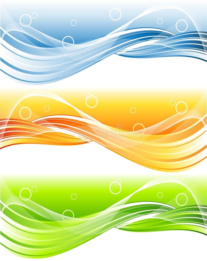 Cabecera brillante del vector ilustración del vector