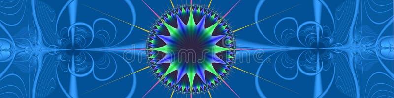 Cabecera: Direcciones azules ilustración del vector