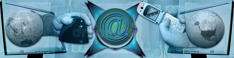 Cabecera: Tecnología y comunicación libre illustration