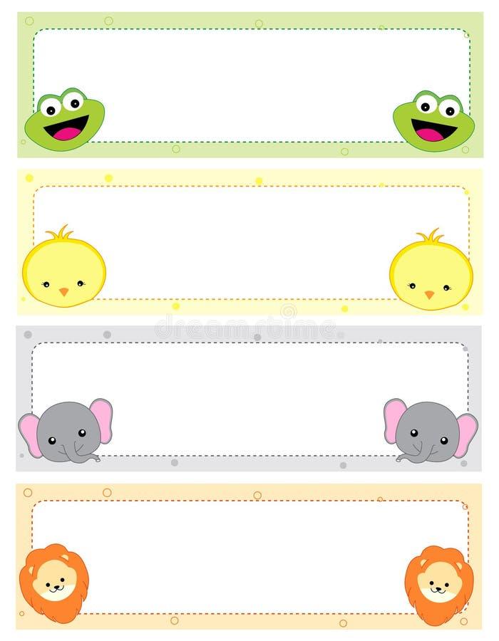 Cabeceras animales del Web stock de ilustración