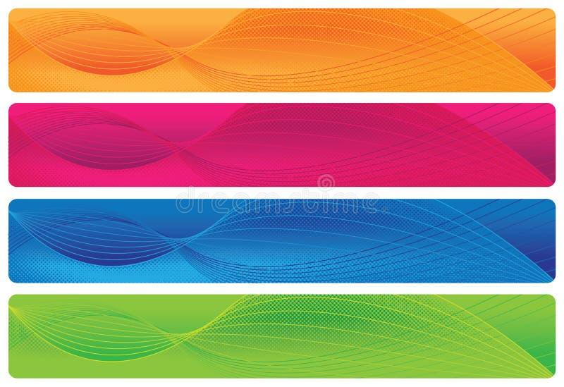 Cabeceras/banderas - Brights ilustración del vector