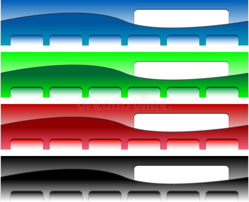 Cabeceras del Web site ilustración del vector