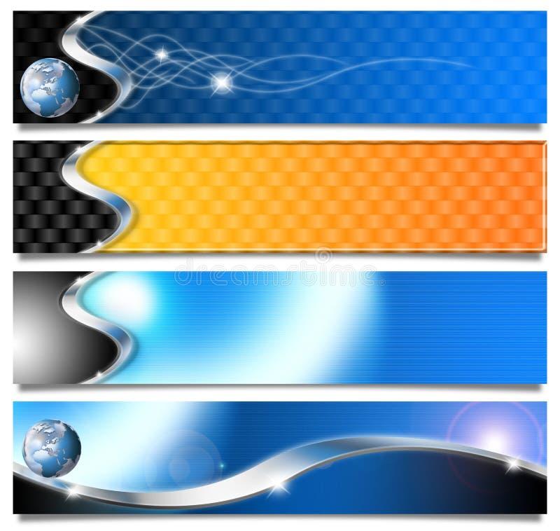 Cabeceras horizontales determinadas stock de ilustración
