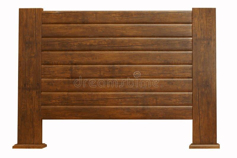 Cabecero de madera de Brown aislado en blanco fotografía de archivo libre de regalías