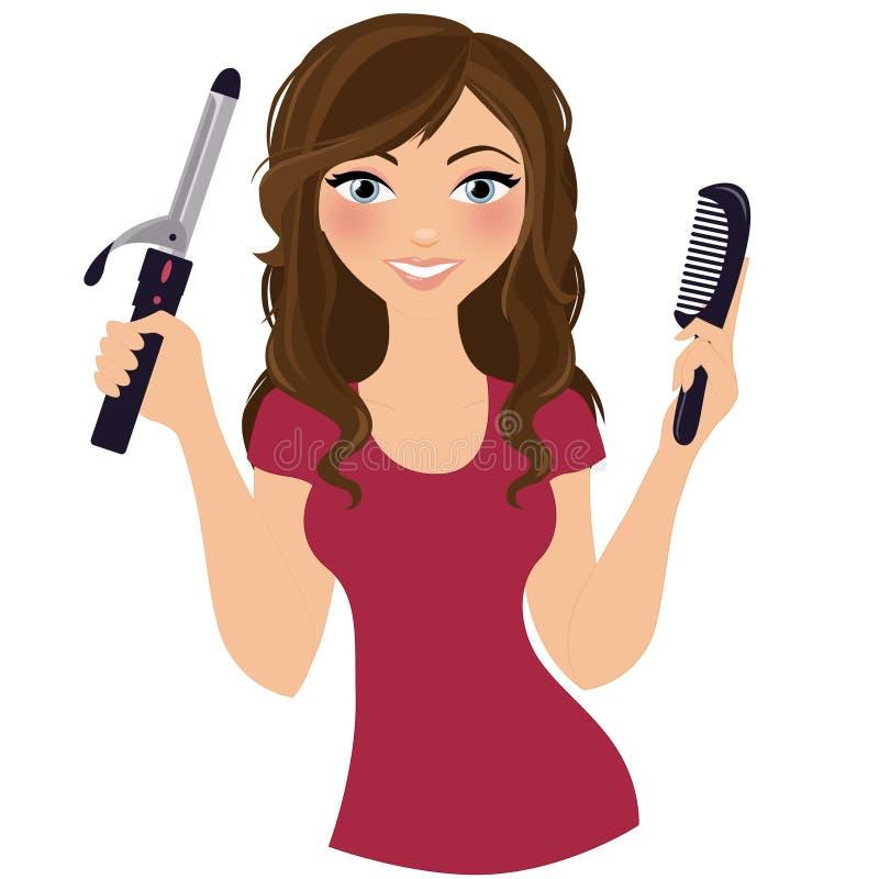 Cabeleireiro da mulher ilustração stock