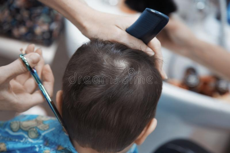 Cabeleireiro do bebê imagem de stock