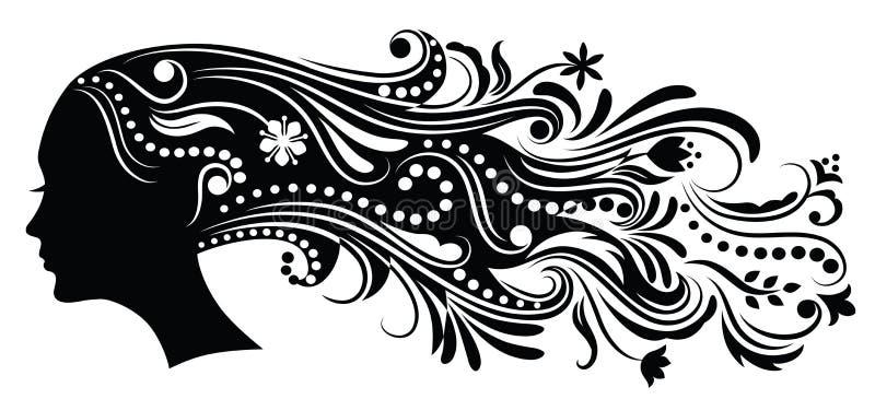 Cabelo abstrato. ilustração royalty free