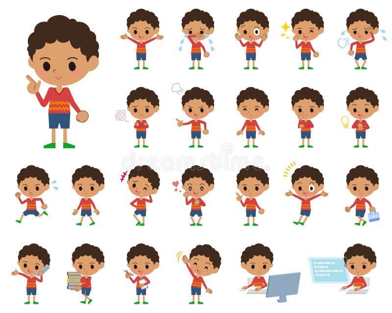 Cabelo boy_1 do permanente ilustração stock