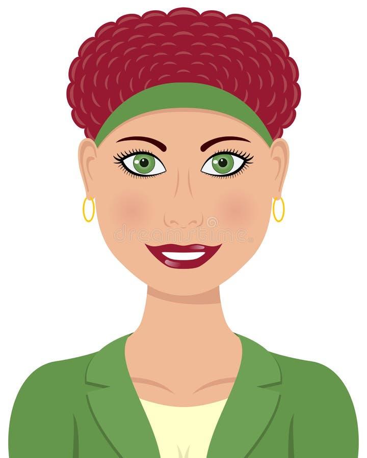 Cabelo caucasiano do vermelho da mulher de negócio ilustração do vetor