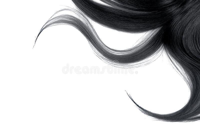 Cabelo cinzento bagunçado longo, isolado no fundo branco imagem de stock