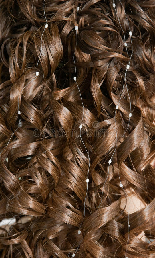 Cabelo Curly foto de stock