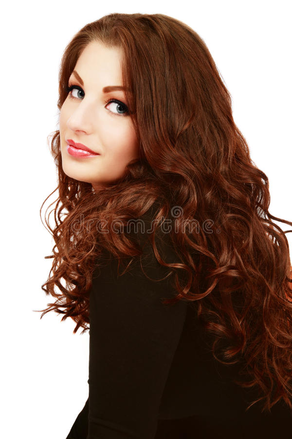 Cabelo Curly foto de stock royalty free