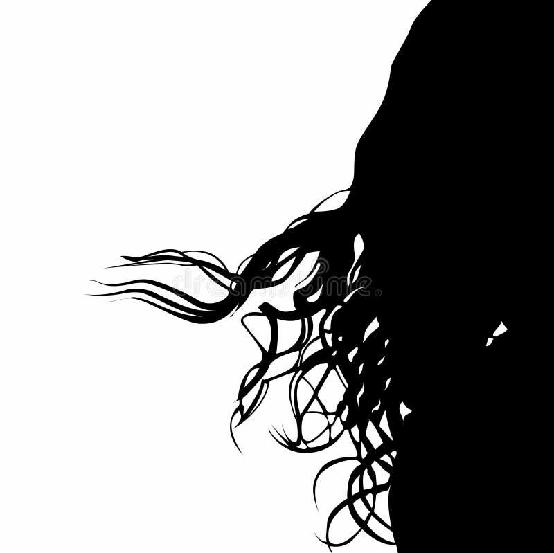 Cabelo curly do vetor ilustração royalty free