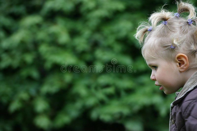 Cabelo da criança fotografia de stock royalty free