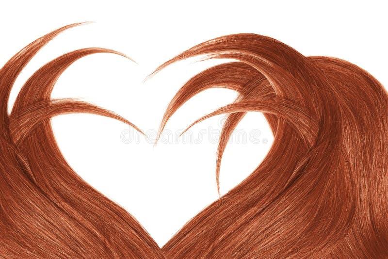 Cabelo da hena na forma do coração, isolada no fundo branco fotos de stock