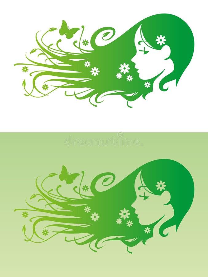 Cabelo de Eco ilustração royalty free