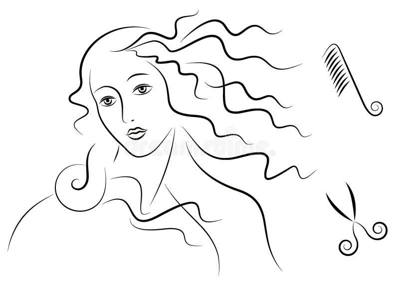 Cabelo do Aphrodite imagem de stock