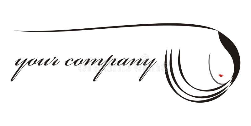 Cabelo do logotipo para sua companhia ilustração stock