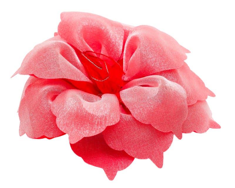 Cabelo flor vermelha p de grampeamento isolado de Barrette imagem de stock royalty free