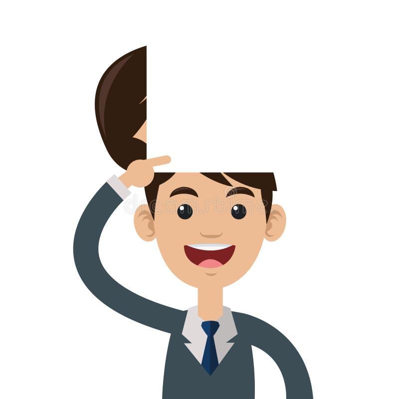 cabeza abierta de la persona stock de ilustración