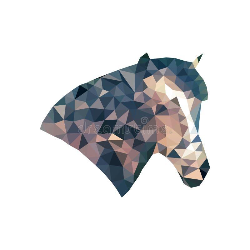 Cabeza abstracta del ` s del caballo Vector de la triangulación imagenes de archivo