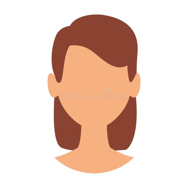 Cabeza anónima de la mujer ilustración del vector
