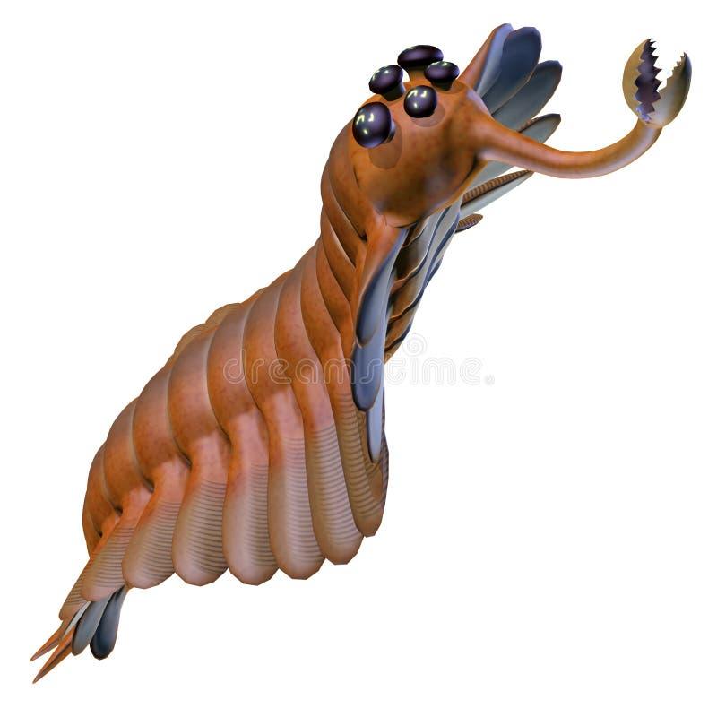 Cabeza cambriana de Opabinia stock de ilustración