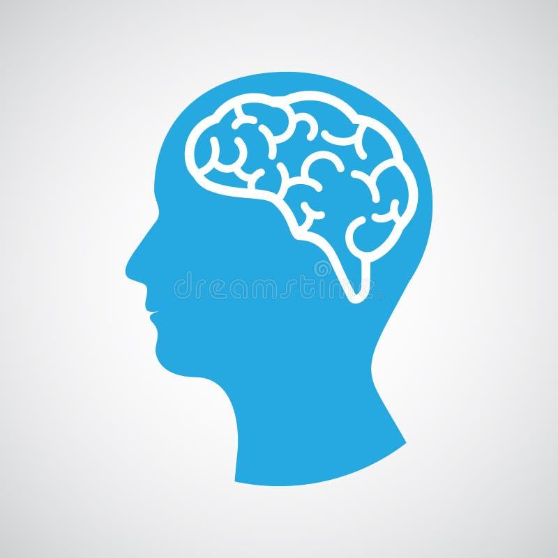 Cabeza con el cerebro libre illustration