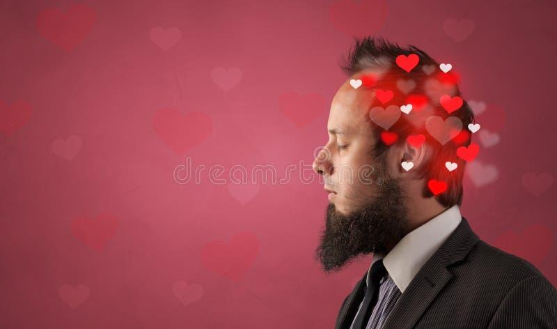 Cabeza con lleno de amor imagen de archivo