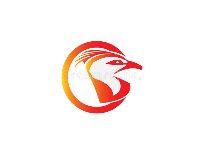 Cabeza de Eagle en un círculo para el ejemplo del diseño del logotipo stock de ilustración