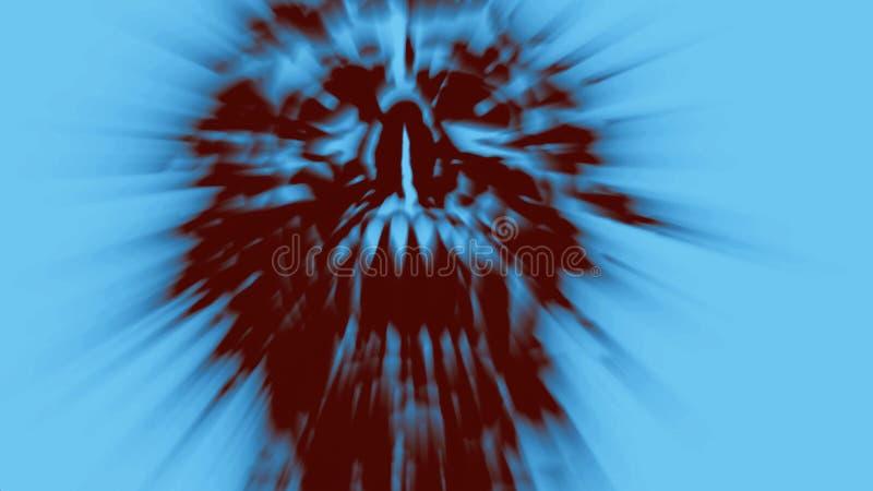 Cabeza de griterío enojada del espíritu necrófago Ejemplo en el género del horror ilustración del vector