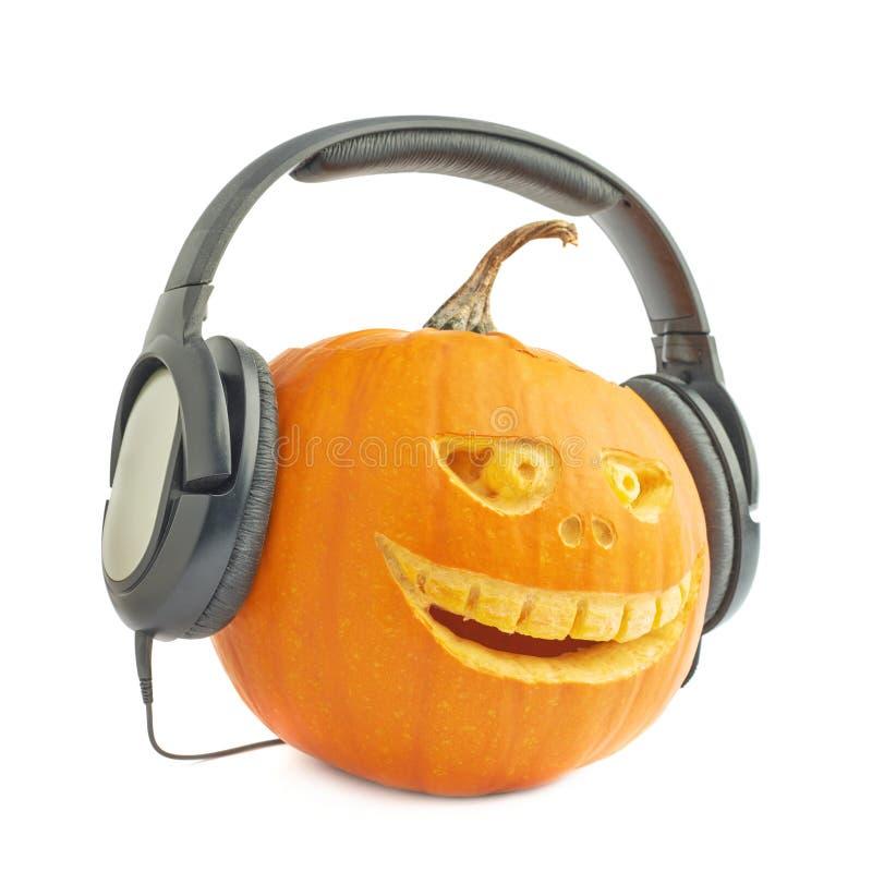 cabeza de la calabaza de Halloween de las Jack-o'-linternas fotos de archivo