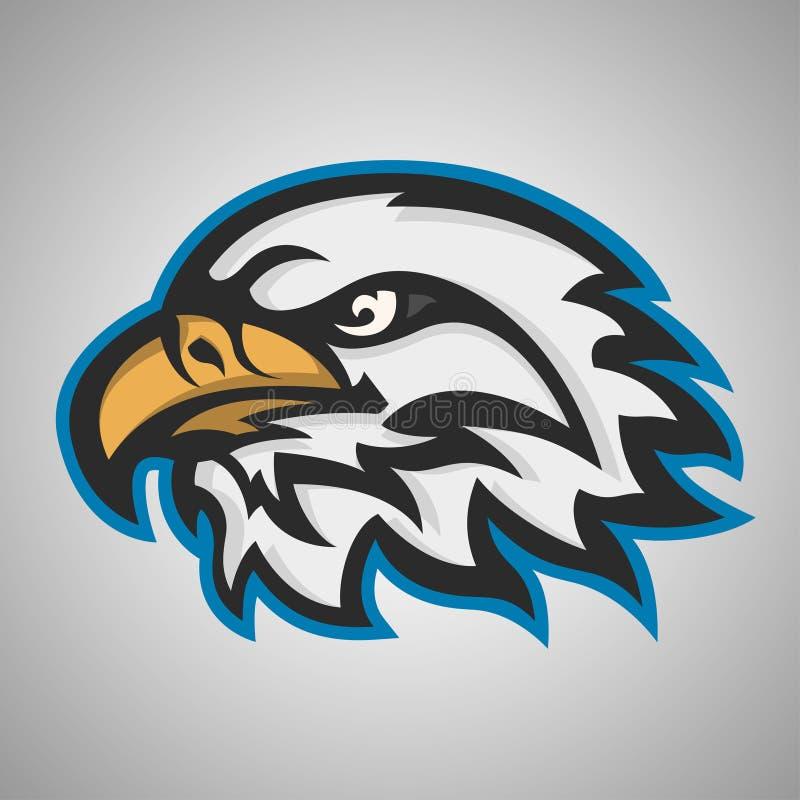 Cabeza de la mascota de un águila ilustración del vector