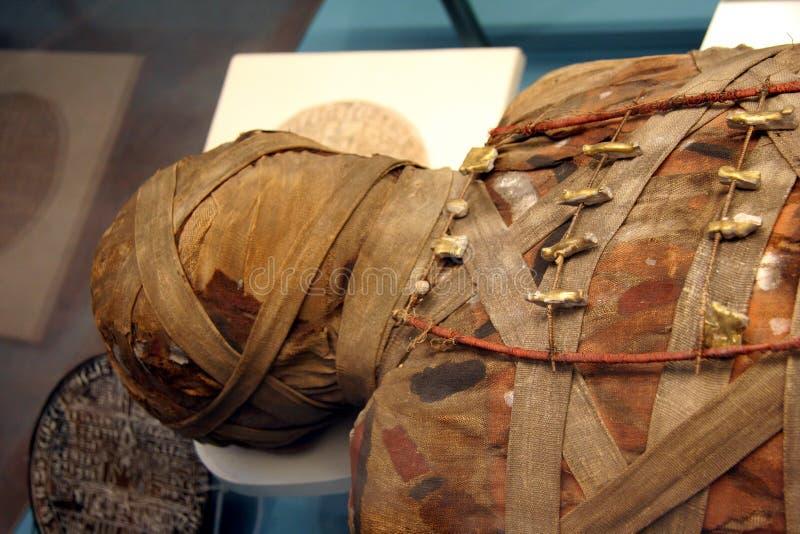 Cabeza de la momia de Egyption fotos de archivo