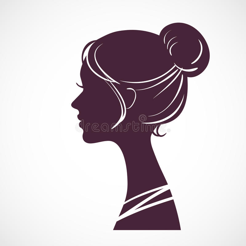Cabeza de la silueta de las mujeres libre illustration