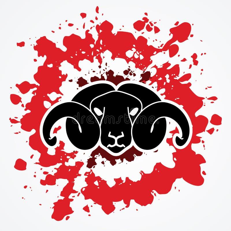 Cabeza de las ovejas stock de ilustración