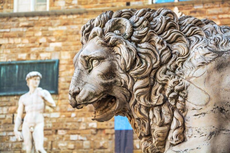 Cabeza de león feroz fotografía de archivo
