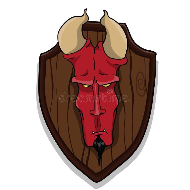Cabeza de los diablos stock de ilustración