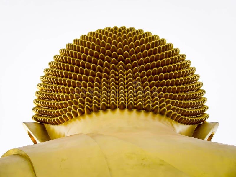 Cabeza de oro de la imagen de Buda fotografía de archivo