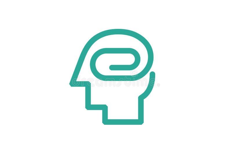Cabeza de papel Logo Symbol Design del clip ilustración del vector