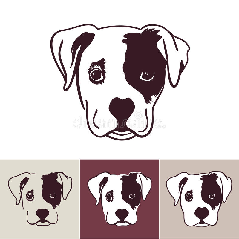 Cabeza de perro de perrito stock de ilustración
