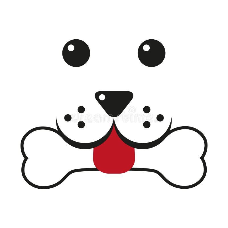Cabeza de perro y nariz en la forma de un corazón stock de ilustración