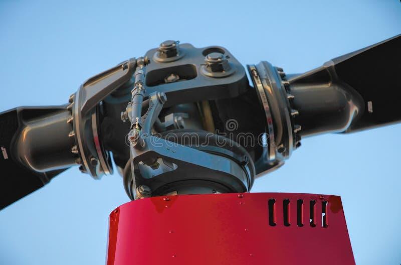 Cabeza de rotor del helicóptero foto de archivo