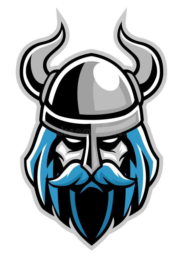 Cabeza de Vikingos stock de ilustración