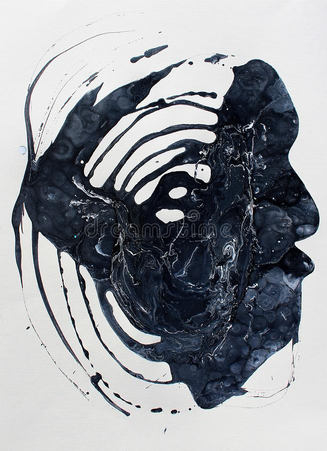 Cabeza del bstract del  de Ð Fondo pintado a mano Fragmento de las ilustraciones fotografía de archivo libre de regalías