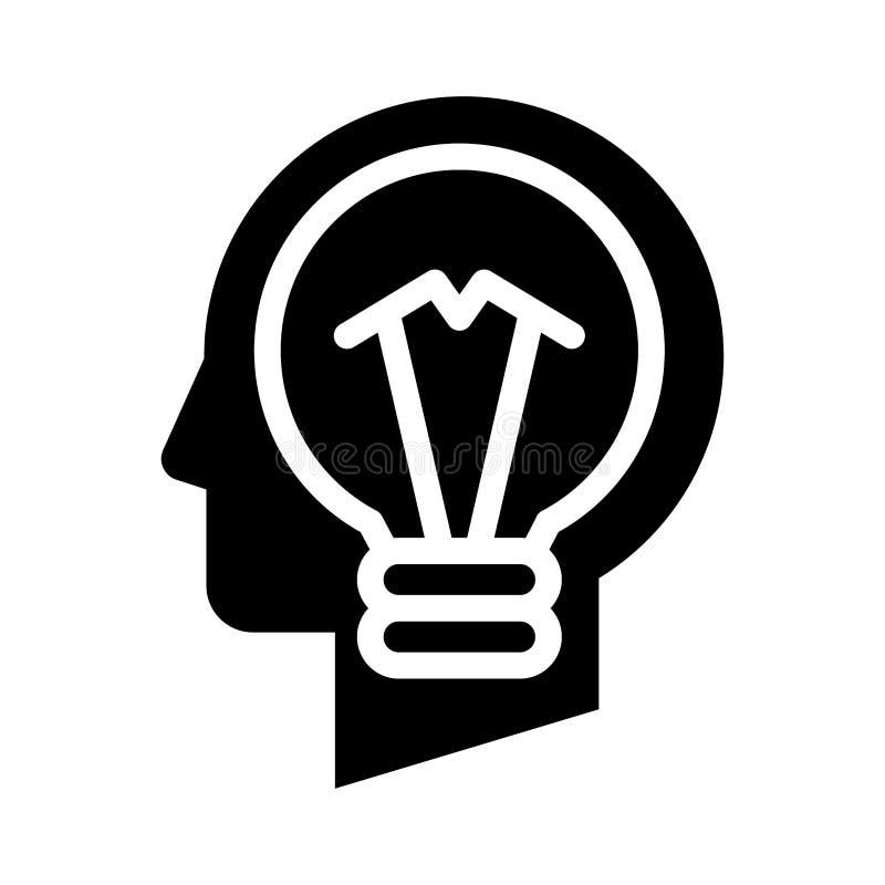 Cabeza del bulbo de la idea ilustración del vector