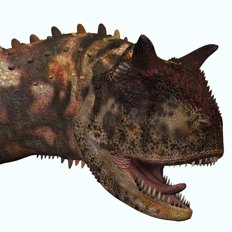Cabeza del Carnotaurus ilustración del vector